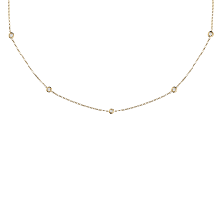 Collier Diamant Circuit 0,07 carat in Or jaune