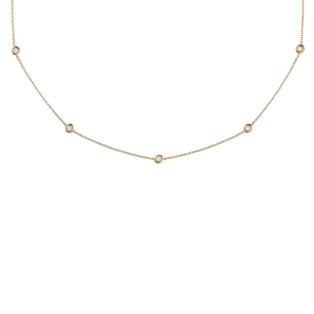 Collier Diamant Circuit 0,10 carat in Or rose