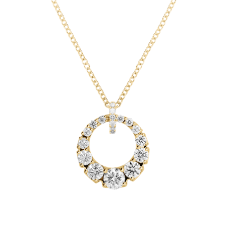 Collier Diamant I in Or jaune