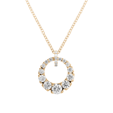 Collier Diamant I in Or rose
