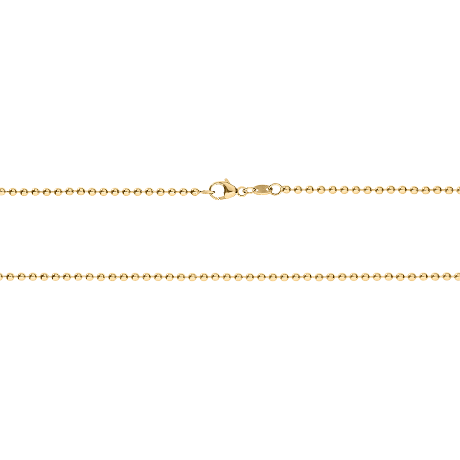 Ball Chain Necklace in Rose Gold
