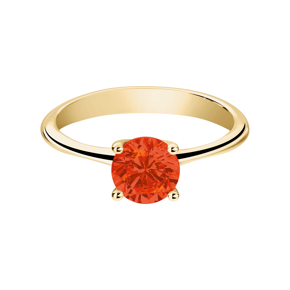 Basel Feueropal orange in Gelbgold