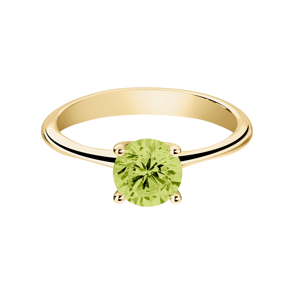 Basel Peridot green in Yellow Gold