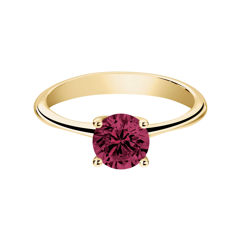 Basel Rhodolite red in Yellow Gold