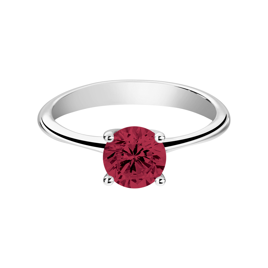 Basel Ruby red in White Gold
