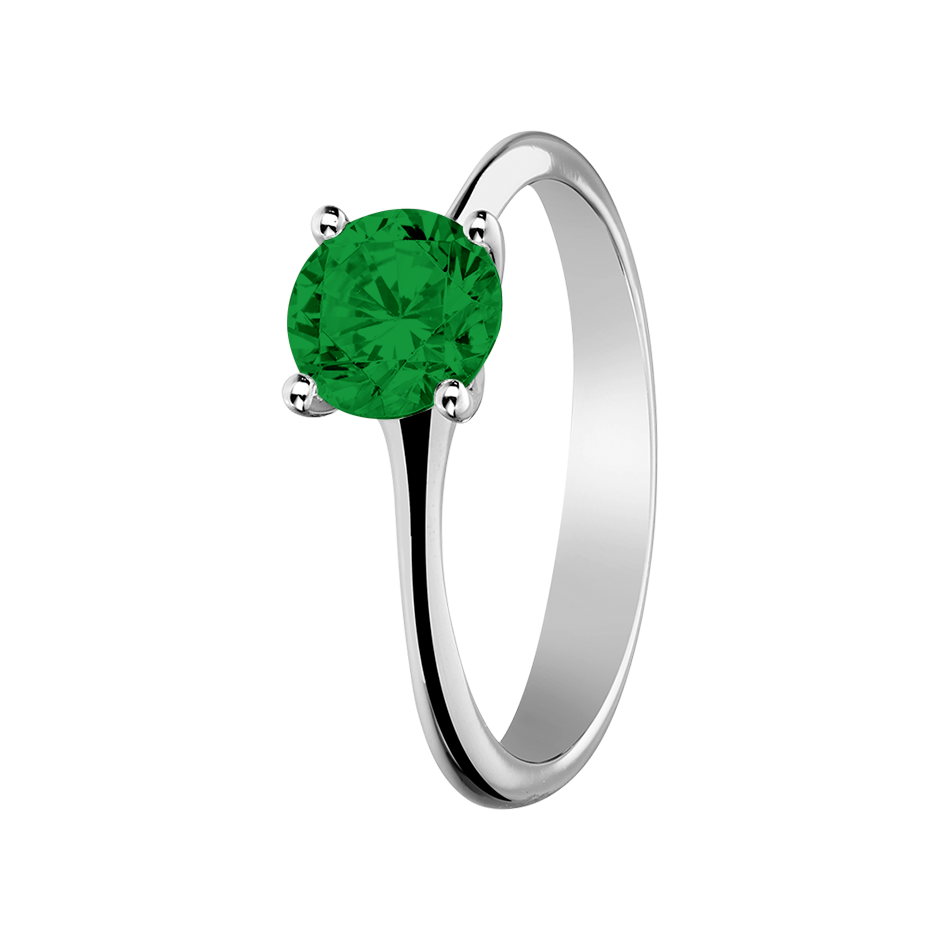 Basel Tourmaline green in Platinum