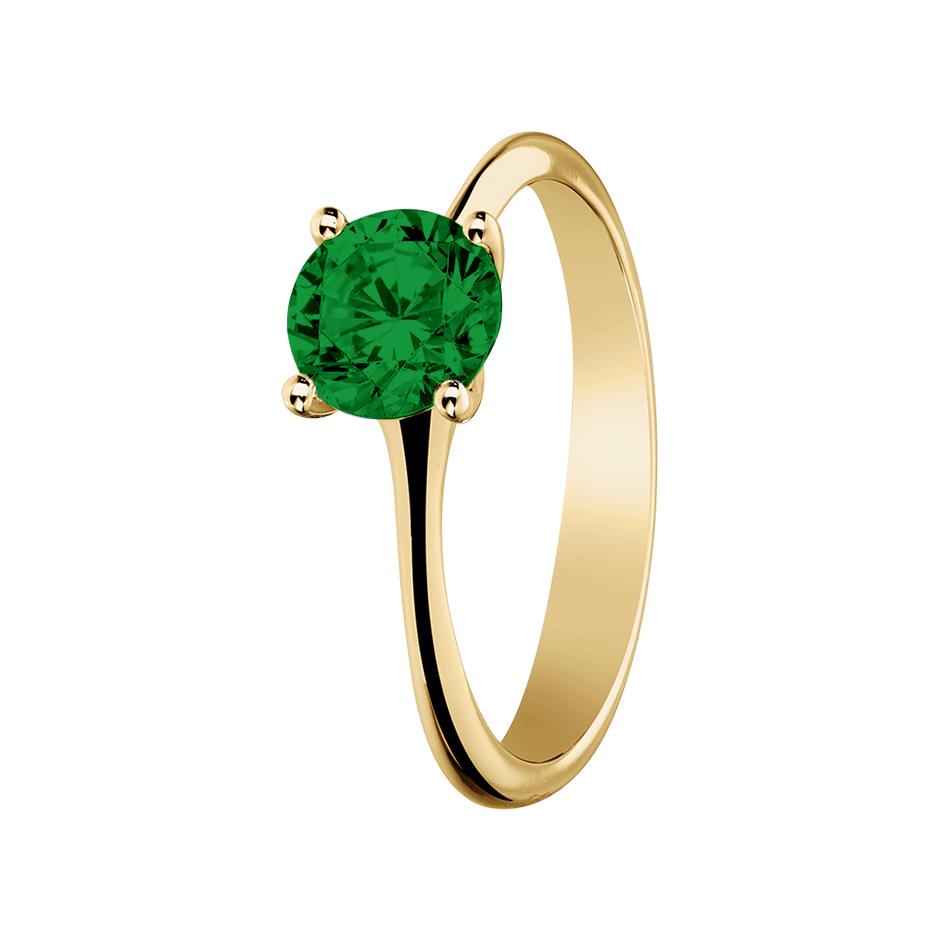Basel Tourmaline green in Yellow Gold
