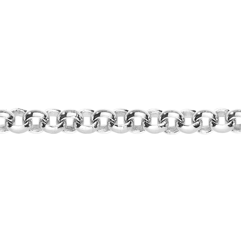Belcher Chain Necklace in White Gold