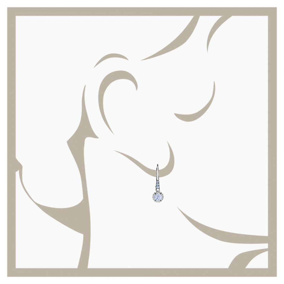 Boucles d'oreilles Romance in Or gris