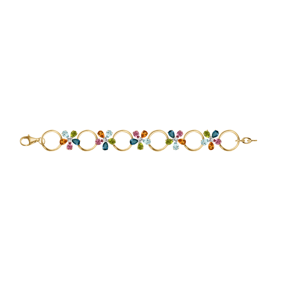 Bracelet Flowers petit modèle in Or jaune