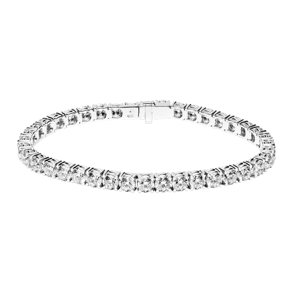 Bracelet Tennis 13,13ct in Or gris