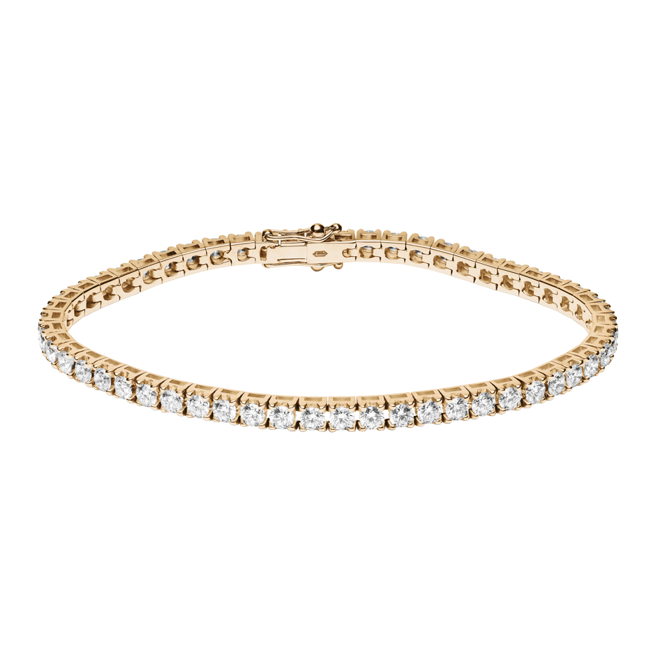 Bracelet Tennis 5,38ct in Or rose