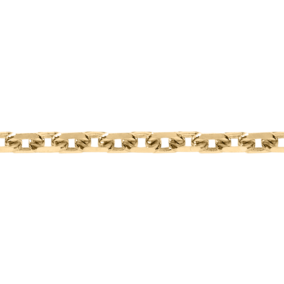 Chaîne maille forçat diamantée in Or rose