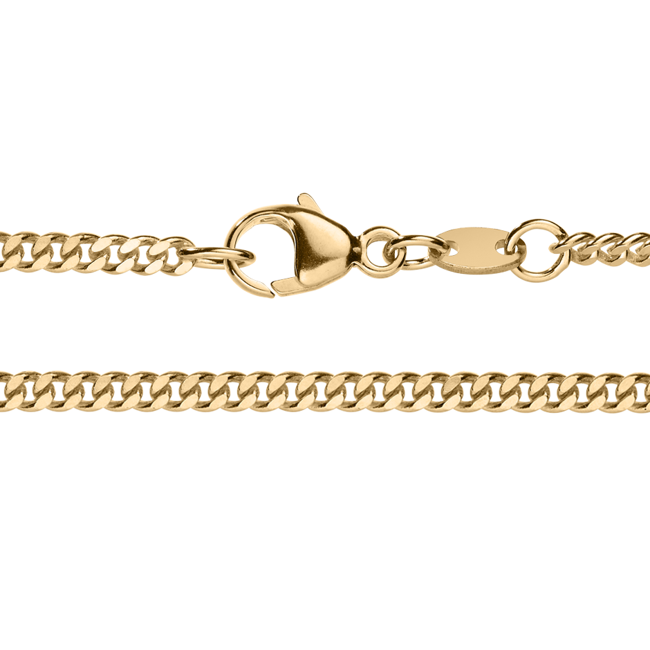 Curb Chain Necklace in Rose Gold