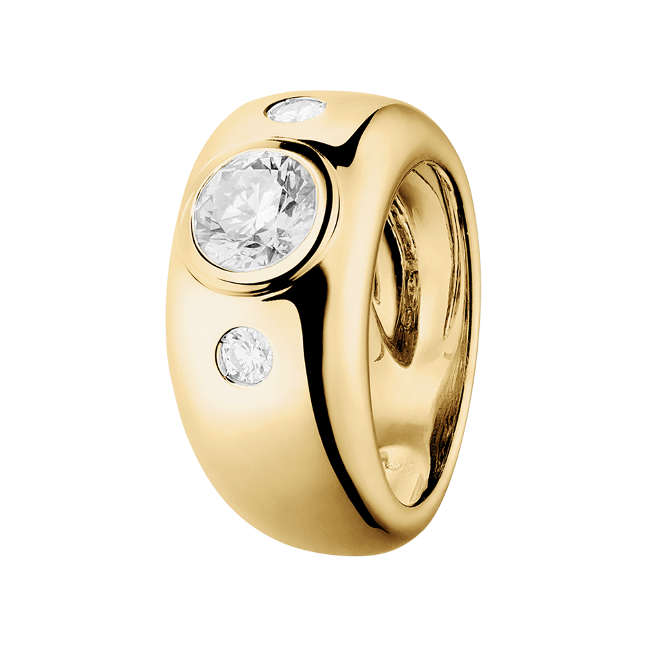 Diamantring Naples 1 Karat in Gelbgold