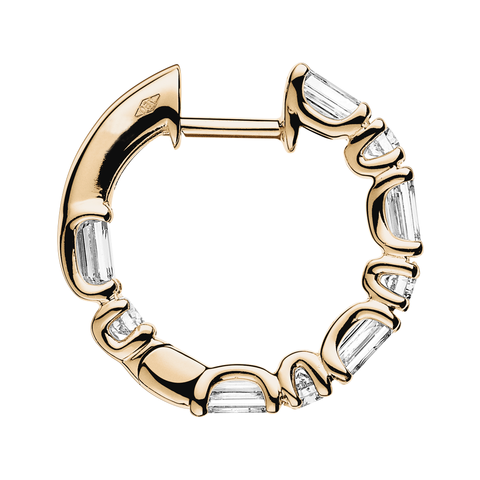 Diamond Hoop Earrings IX in Rose Gold