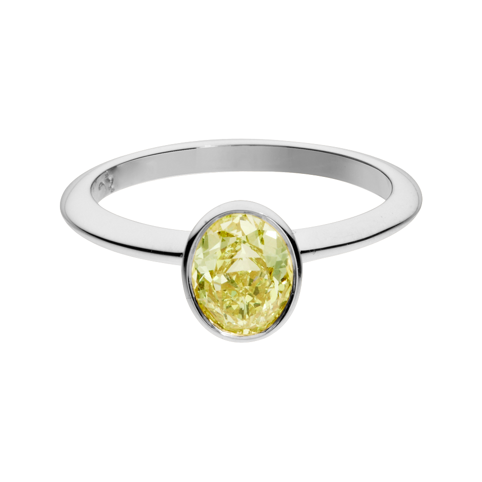 Diamond Ring Fancy Yellow in White Gold