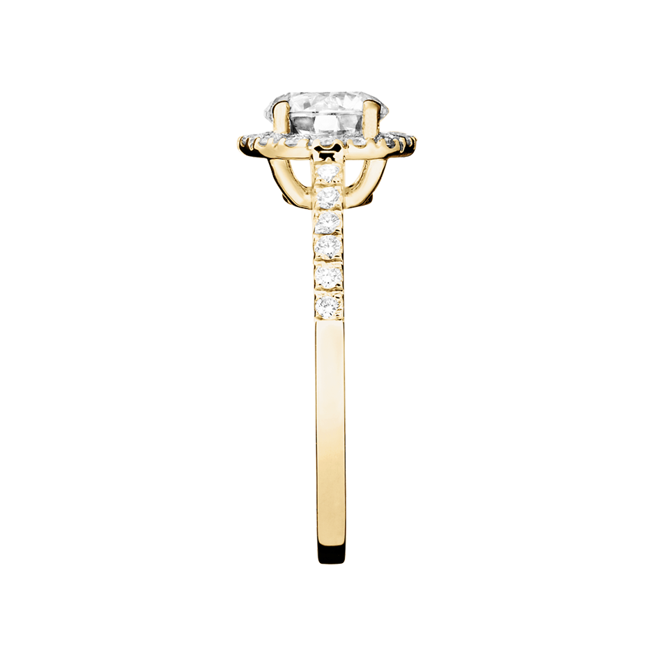 Diamond Ring Prague 0.75 carat in Yellow Gold