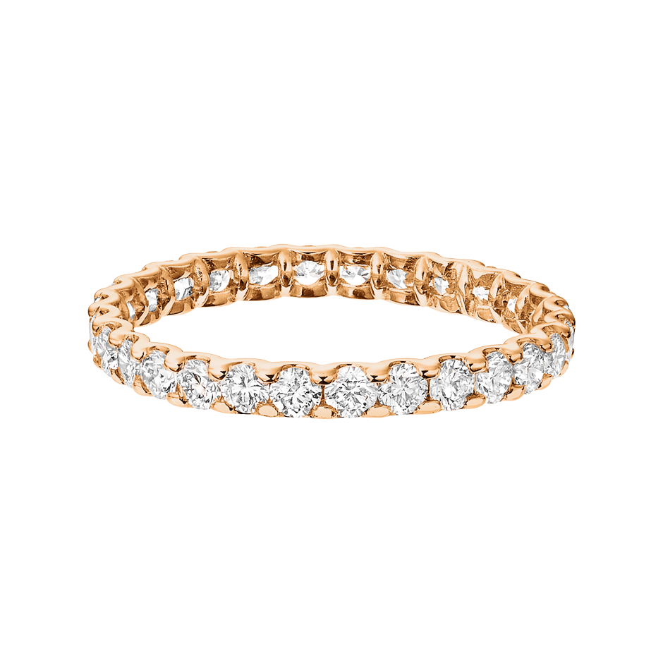 Eternity Ring Hamburg H SI in Rose Gold