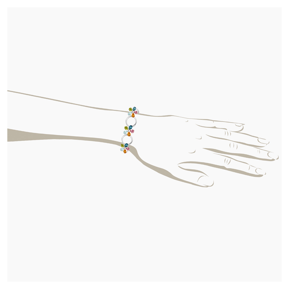 Flowers Bracelet Small in White Gold