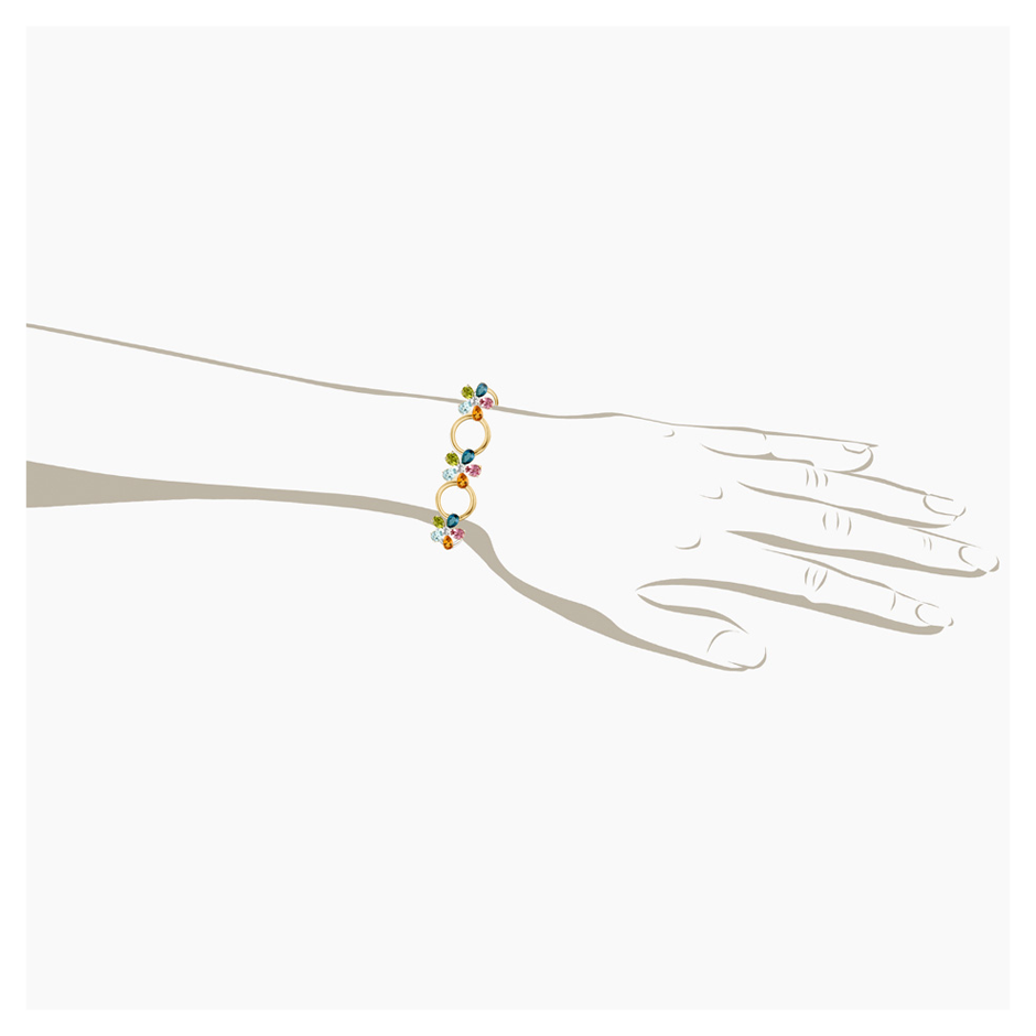 Flowers Bracelet Small in Yellow Gold