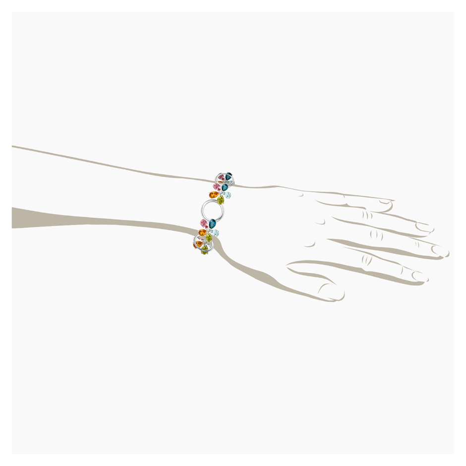 Flowers Bracelet in White Gold