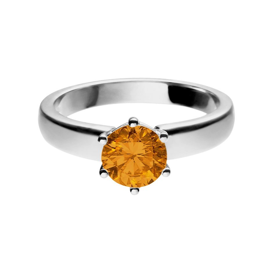 Malmö Madeira Citrine orange in White Gold