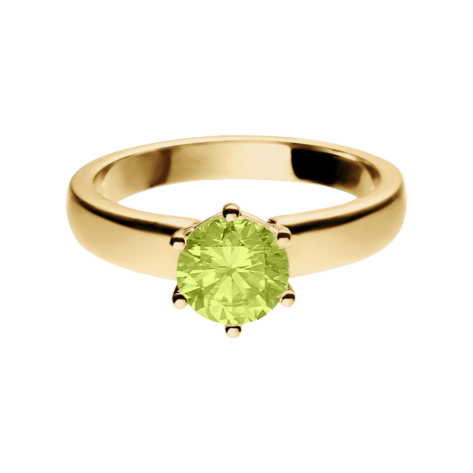 Malmö Peridot green in Yellow Gold