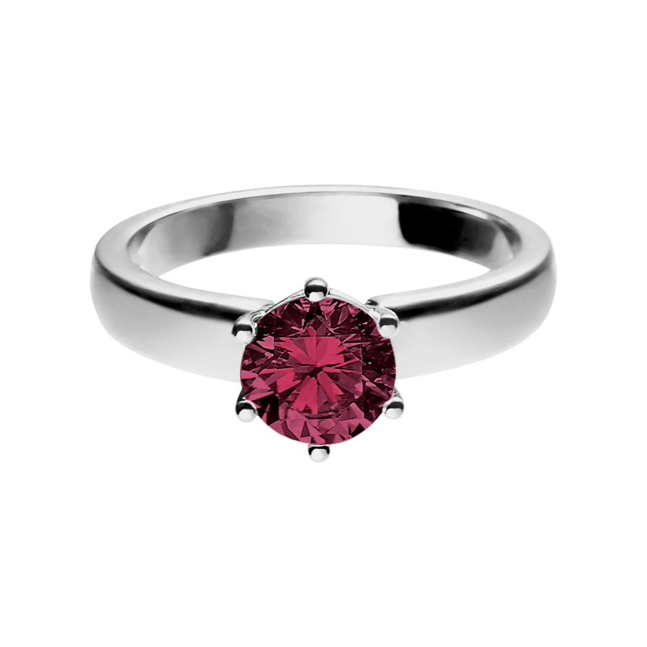 Malmö Rhodolite red in Platinum