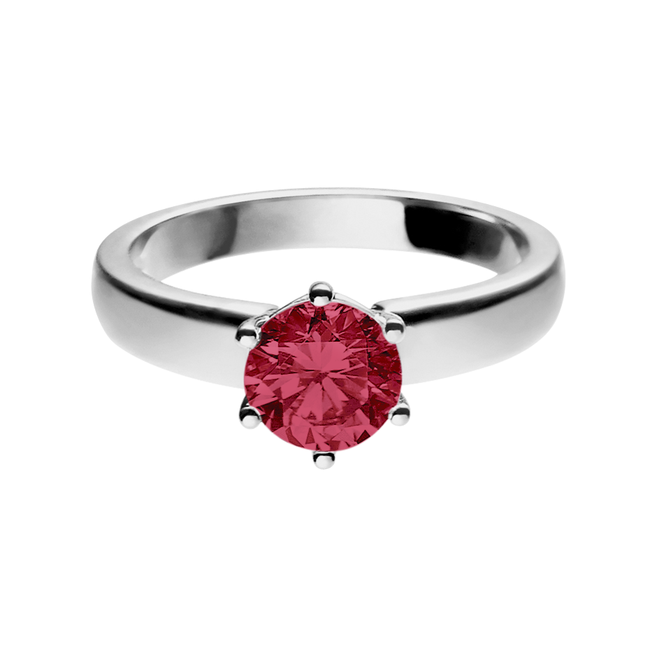 Malmö Ruby red in Platinum