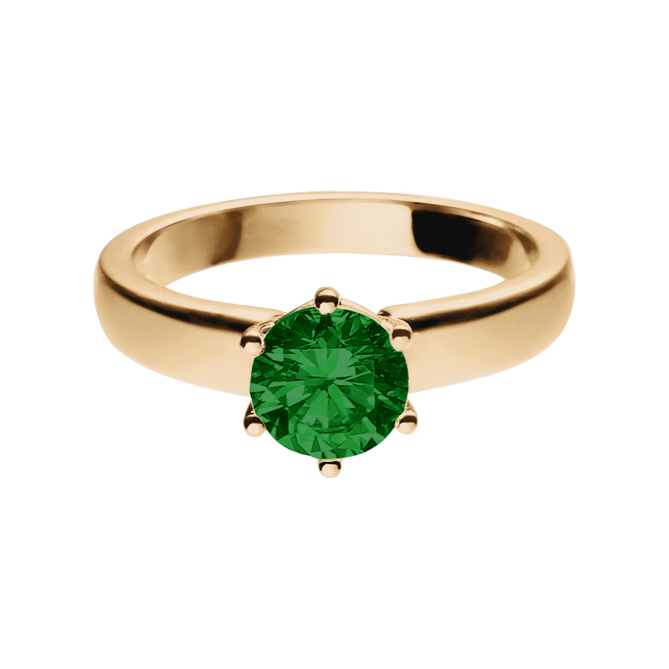 Malmö Tourmaline green in Rose Gold