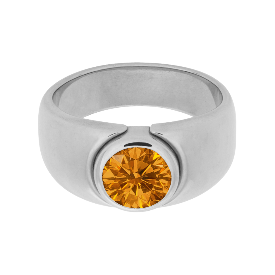Mantua Madeira Citrine orange in Platinum
