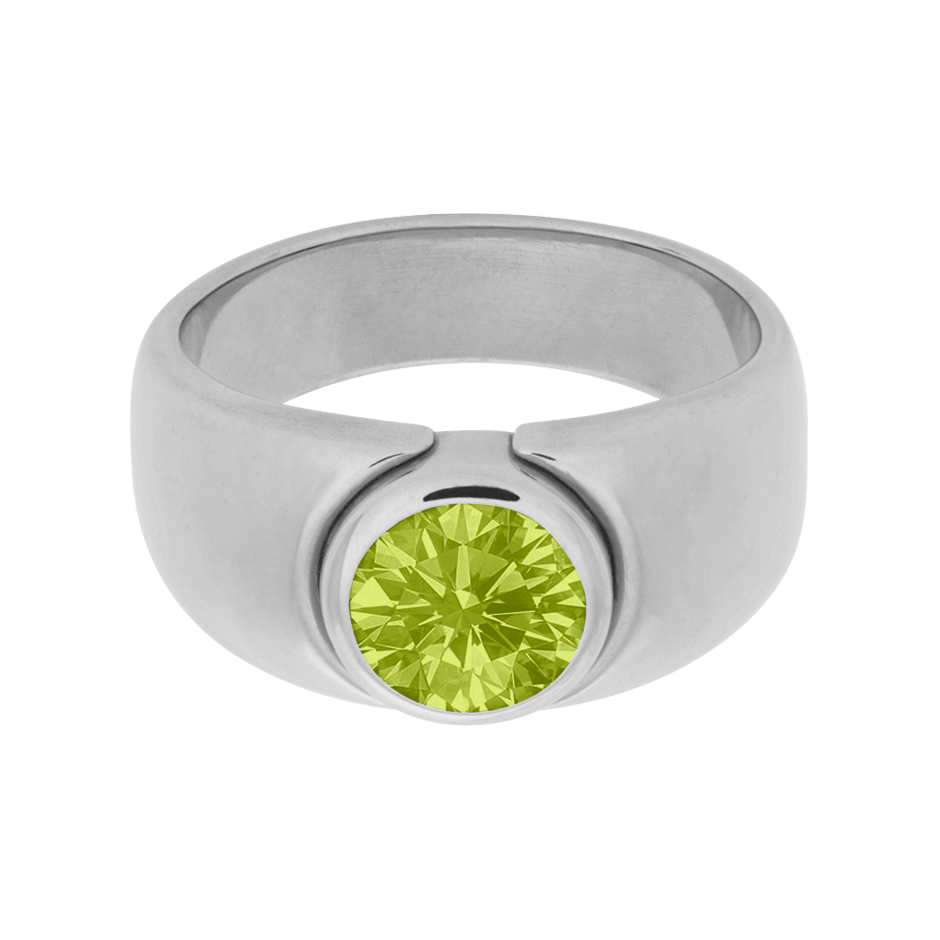 Mantua Peridot green in Platinum