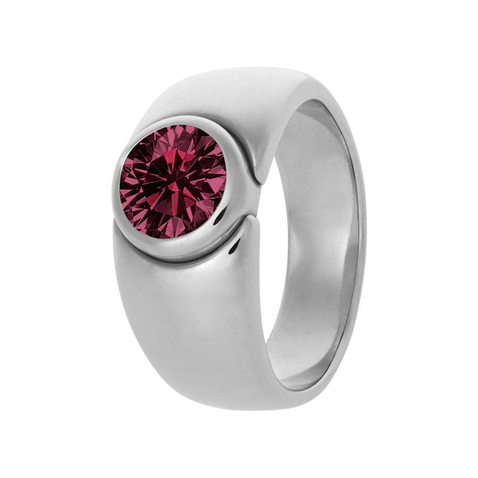Mantua Rhodolite red in White Gold