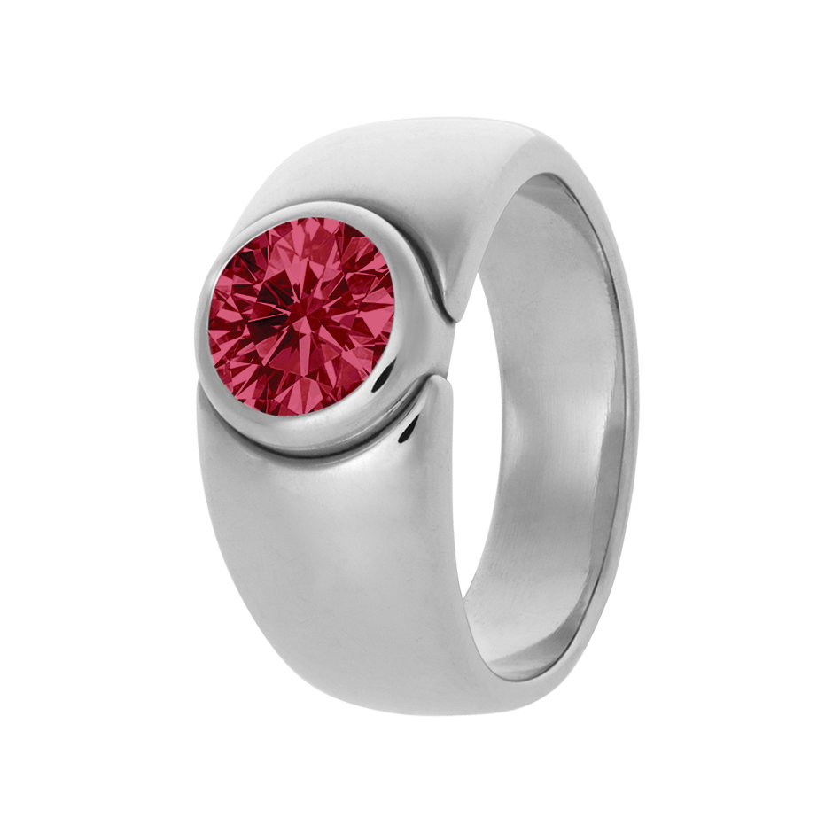Mantua Ruby red in White Gold