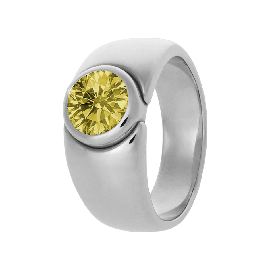 Mantua Sapphire yellow in White Gold