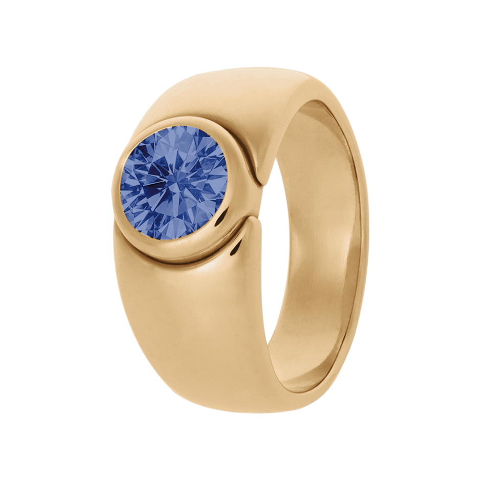 Mantua Tanzanite blue in Rose Gold