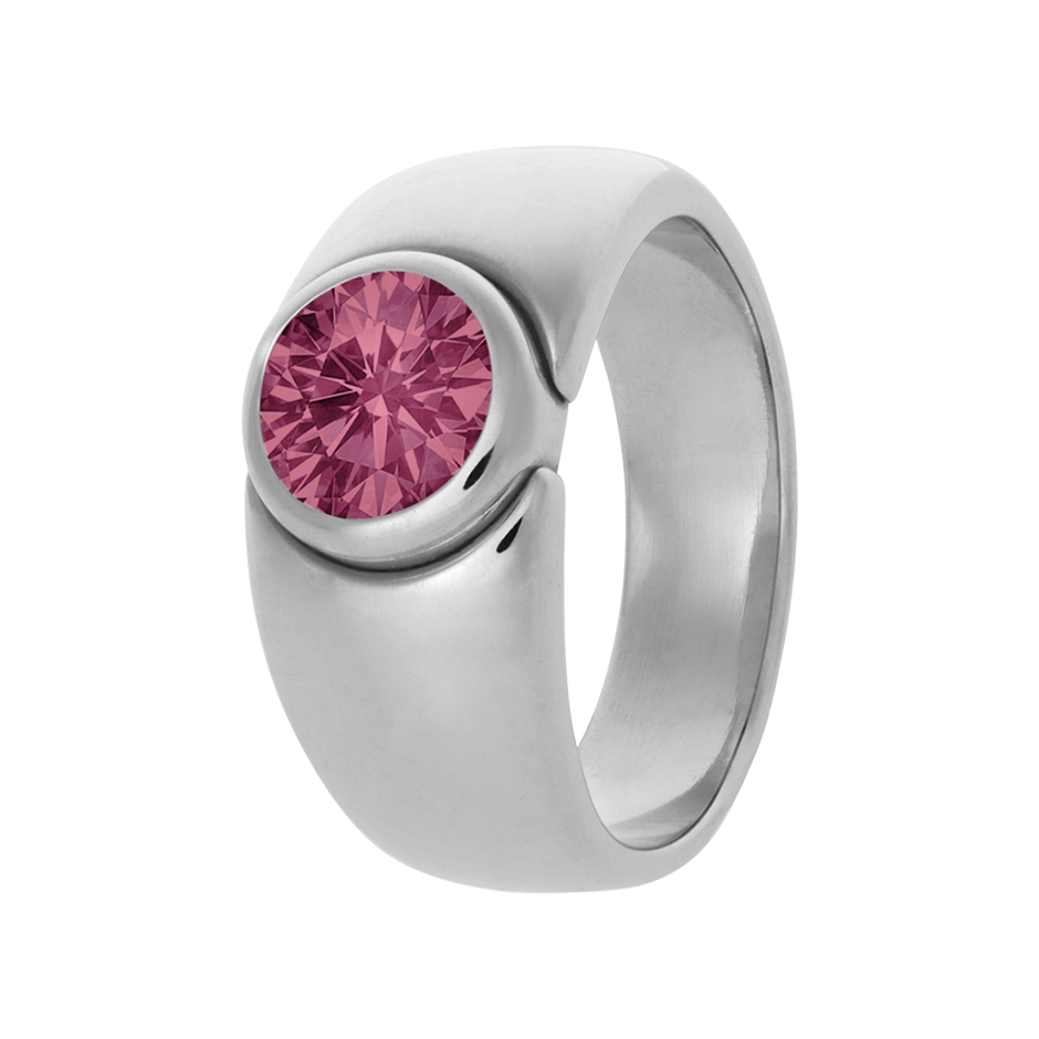 Mantua Tourmaline pink in Platinum