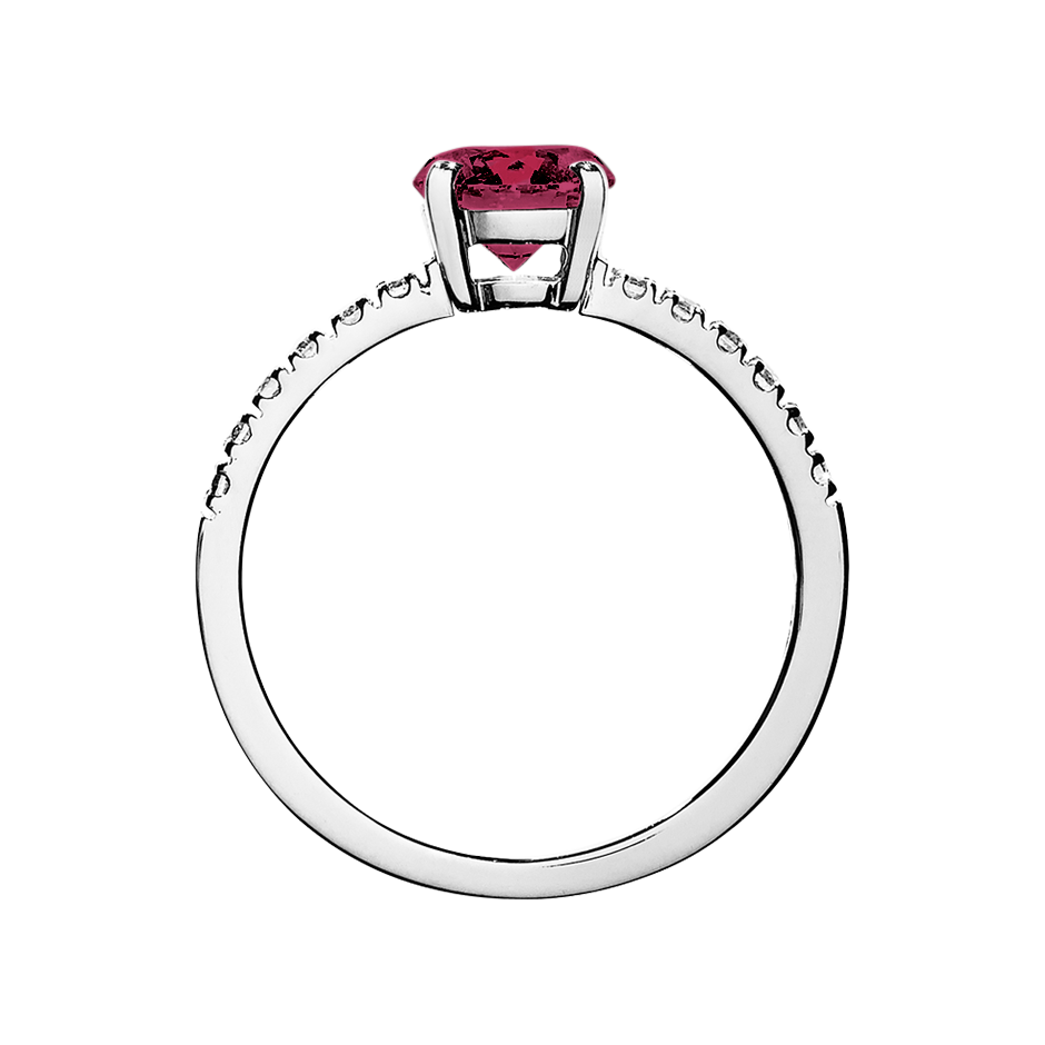Melbourne Rhodolite red in White Gold