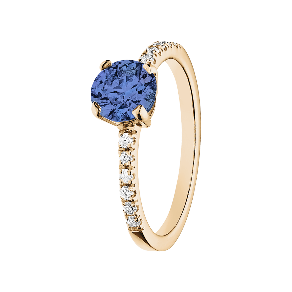 Melbourne Tanzanite blue in Rose Gold