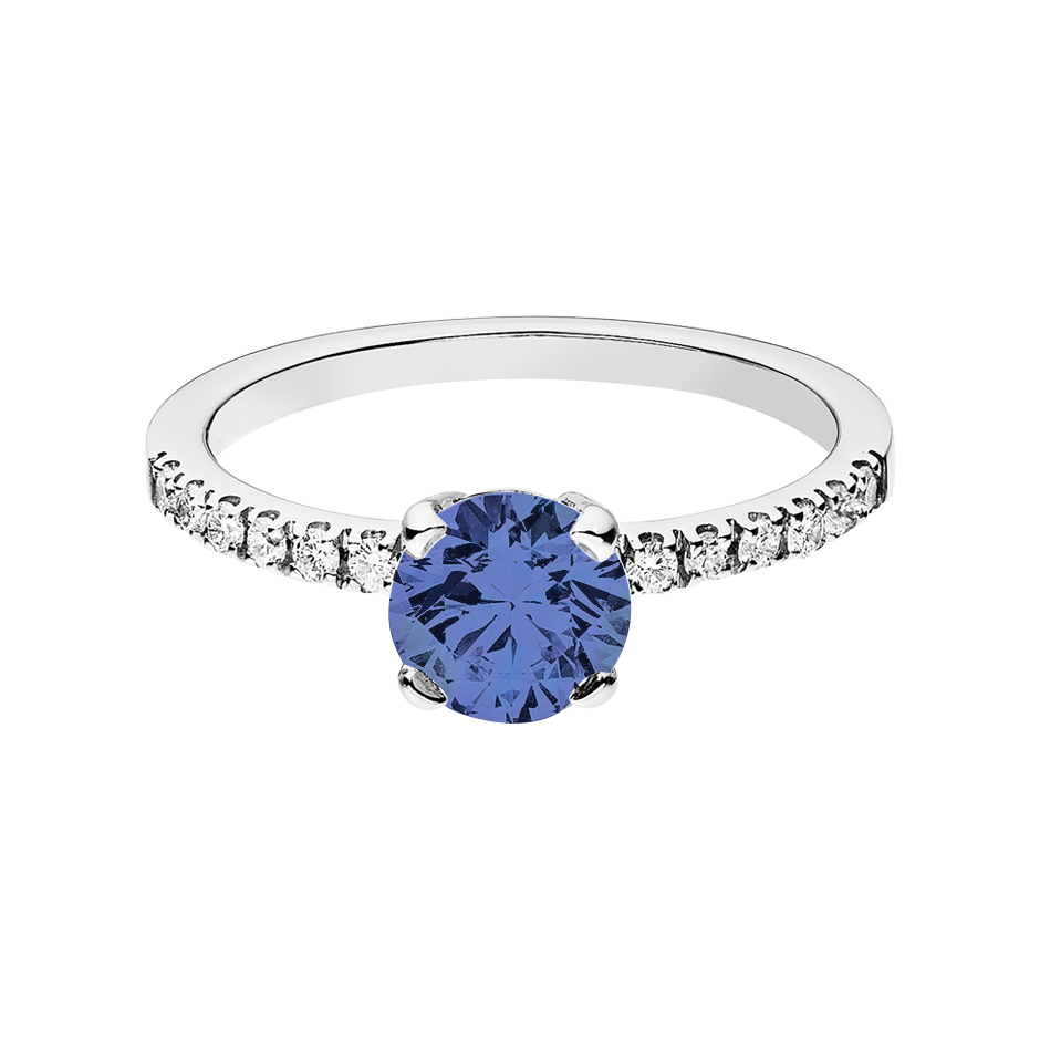 Melbourne Tanzanite blue in White Gold