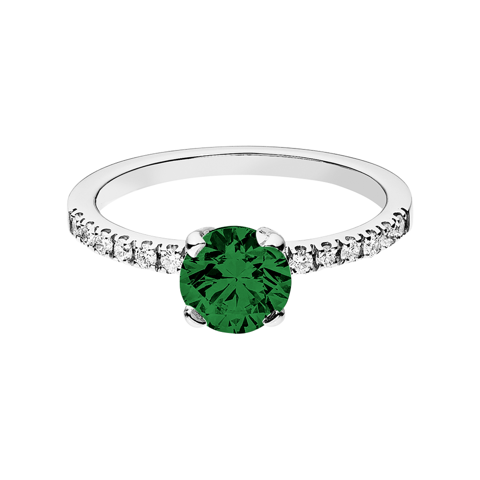 Melbourne Tourmaline green in Platinum