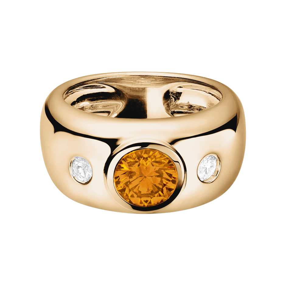 Naples Madeira Citrine orange in Rose Gold
