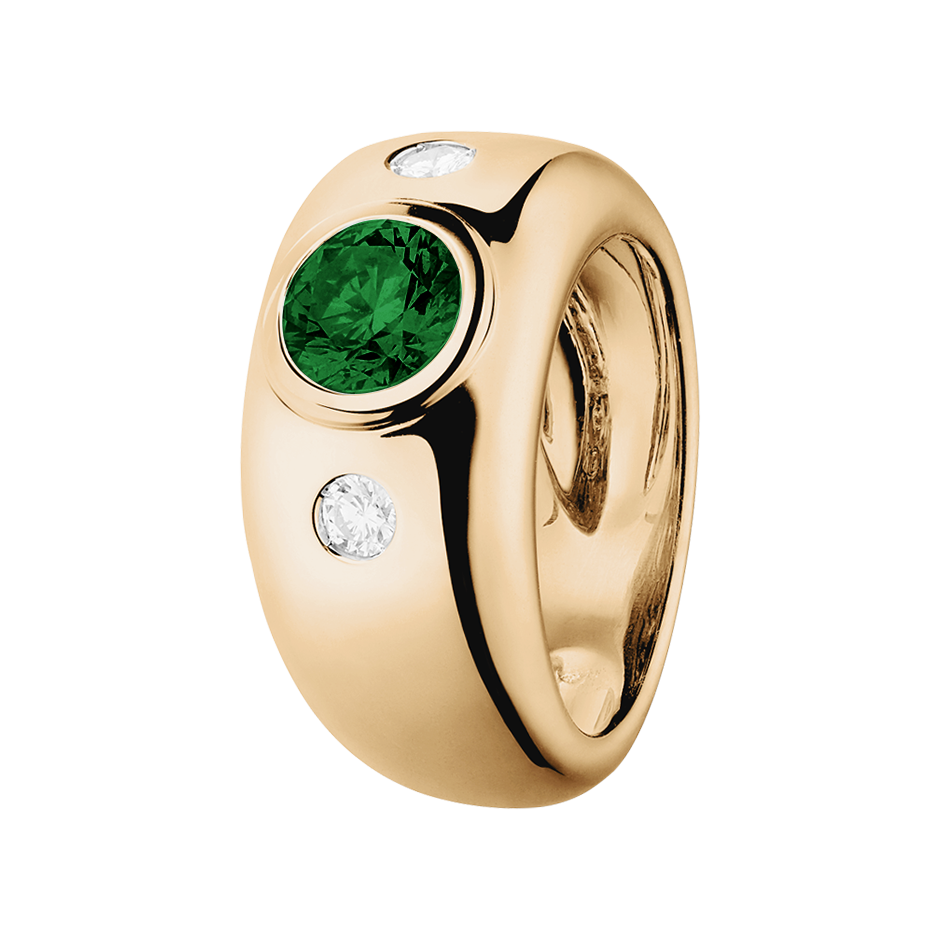 Naples Tourmaline green in Rose Gold