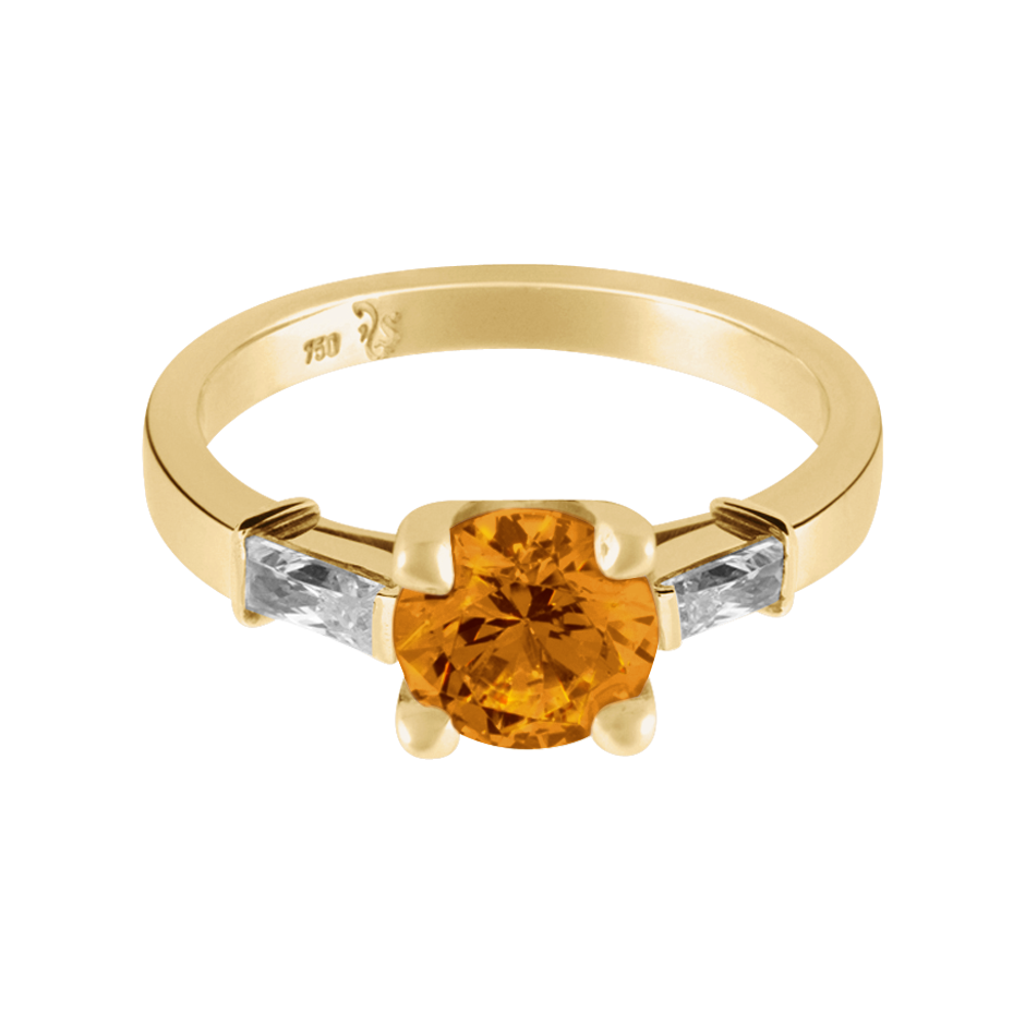 Paris Madeira Citrin orange in Gelbgold