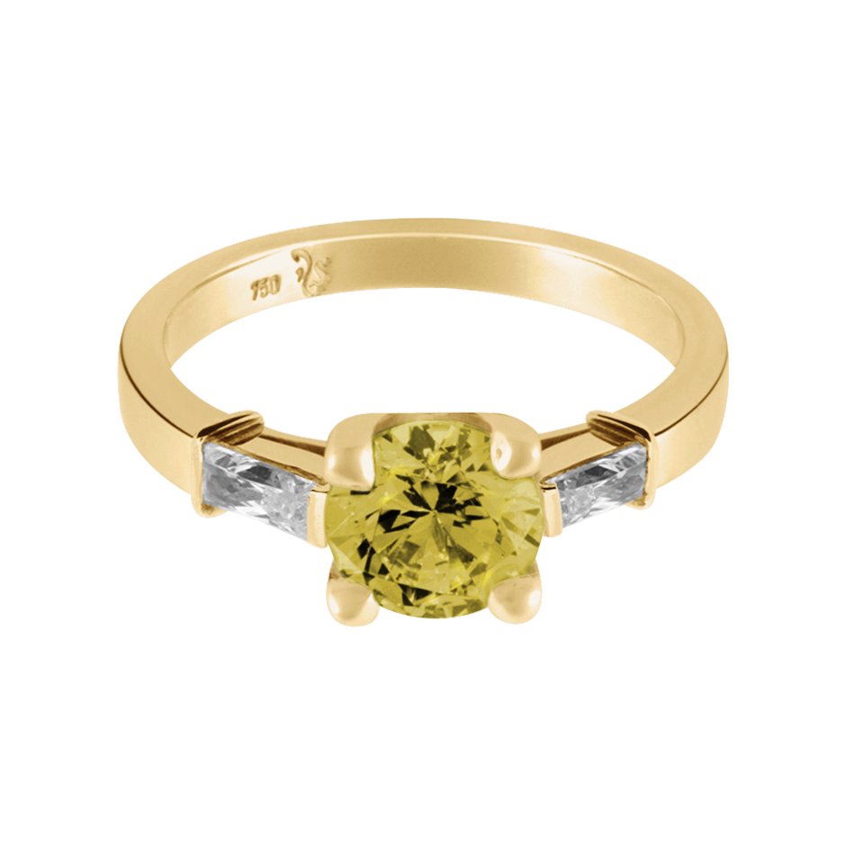 Paris Sapphire yellow in Yellow Gold
