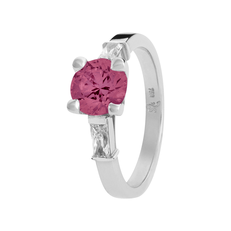 Paris Tourmaline pink in Platinum