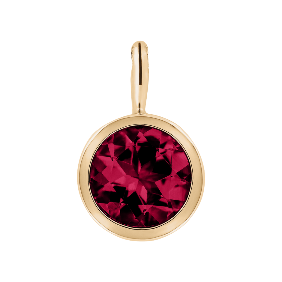 Pendant Bezel Ruby red in Rose Gold