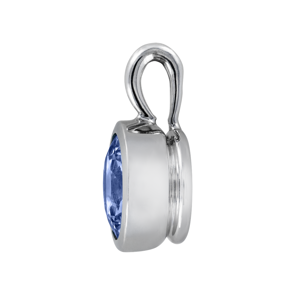 Pendant Bezel Tanzanite blue in Platinum