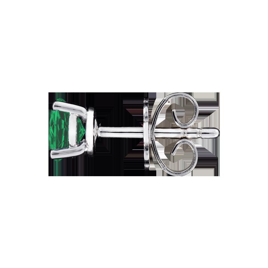 f415d5867 Gemstone Stud Earrings 4 Prongs Emerald green | RENÉSIM